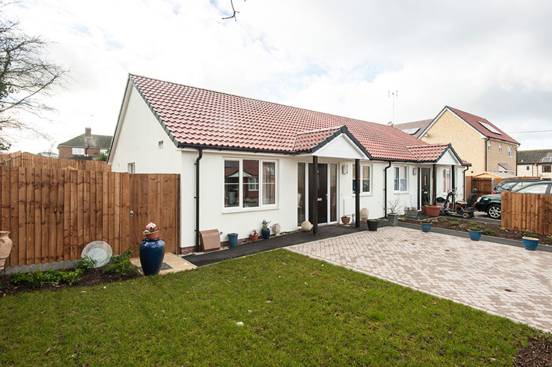 Five bungalows were completed in phase one of the Culverhay regeneration project