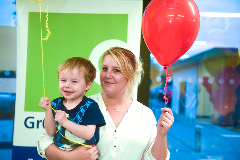 New resident Rachel Steers with her son George live in a two-bedroom apartment at Eleanor House