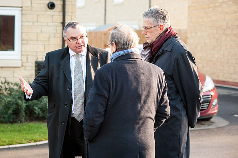 Staff discuss new homes at King Stanley